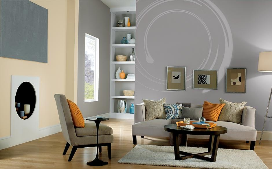 modern colour styles for painting your living room